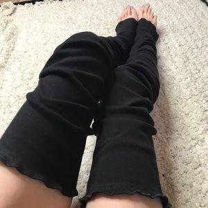 trixy xchange Accessories - Extra Long Black Cotton Thigh Highs Leg Warmers